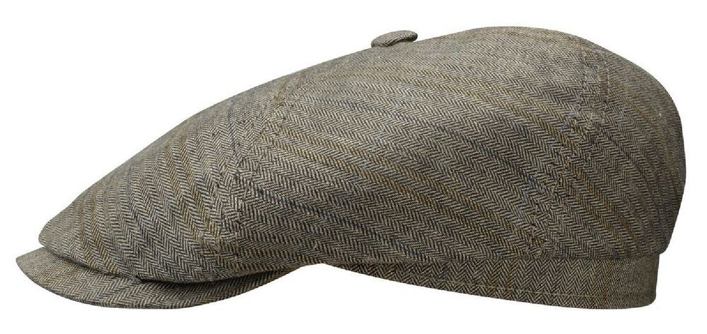 ea06c719869 Stetson 150 th Bakerboy Cap Hat BROOKLIN 331 Gray Black Heritage New Trend