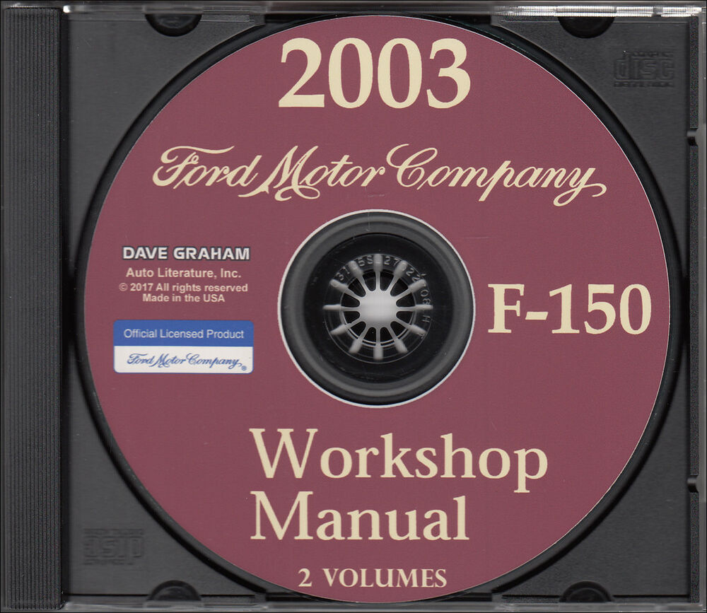 2003 Ford F-150 Shop Manual Set CD-ROM F150 Pickup Truck Service Workshop  Repair | eBay
