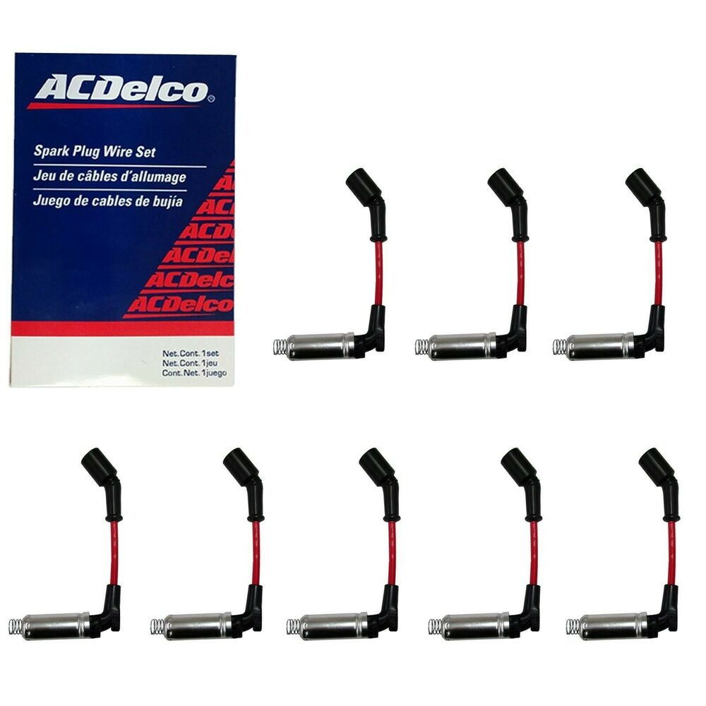 Acdelco Gm Spark Plug Wire Set W Heat Shields 8 For Ls2 Ls3 Ls4 3 Wiring Ls7 Engines Ebay