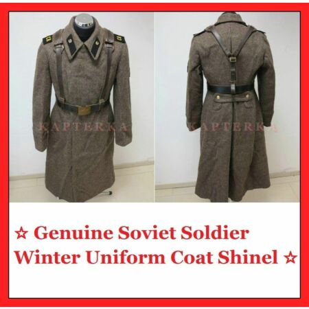 img-☆ Original ☭ Soviet Russian Army Winter Uniform Coat Shinel + Belt + Epaulette!