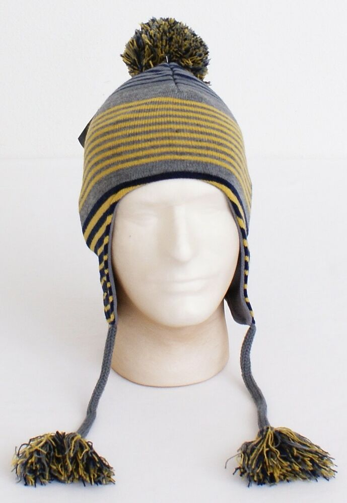 578adba5e7f Details about Under Armour Collegiate Notre Dame Knit Earflap Tassel Beanie  Men s One Size NWT