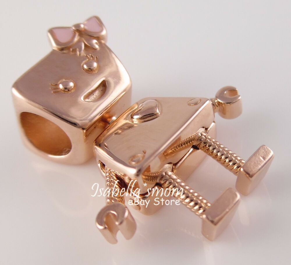 Bella Bot Authentic Pandora Rose Gold Plated Robot Charm