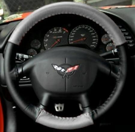 grey black corvette steering wheel cover euro style two tone c5details about grey black corvette steering wheel cover euro style two tone c5 \u0026 z06