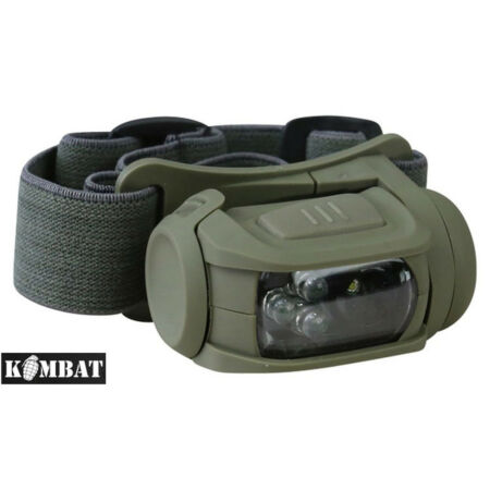 img-Kombat Army Military Predator Camping Work Headlamp Head Torch Red Filter LED