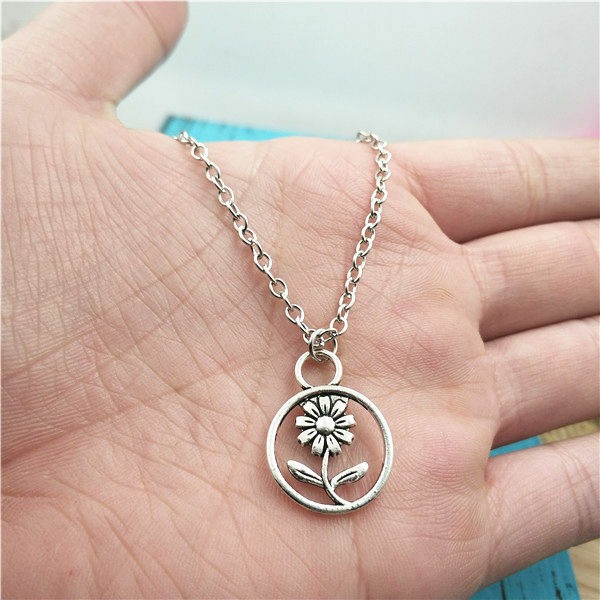 Sunflower silver Necklace pendants fashion jewelry accessory,creative Gifts