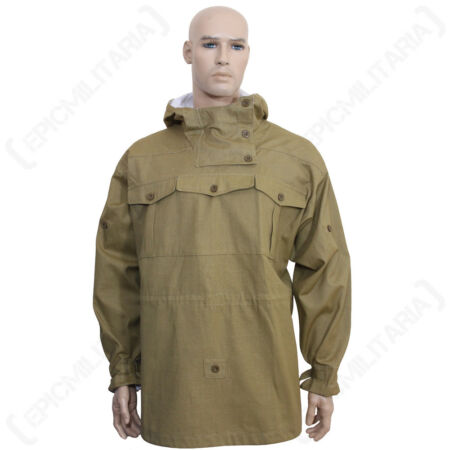 img-REVERSIBLE TAN CANVAS MOUNTAIN ANORAK - Repro WW2 German Gebirgsjager Jacket New