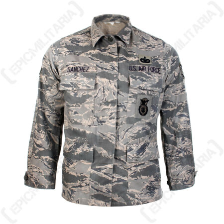img-Original US Airforce Camo ABU Field Jacket - American Coat Top Shirt Surplus