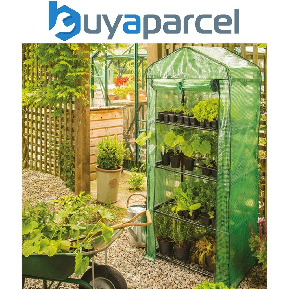 057a5f4b2d8 Details about Gardman 08679 4 Tier Mini Compact Growhouse Garden Greenhouse  With Cover