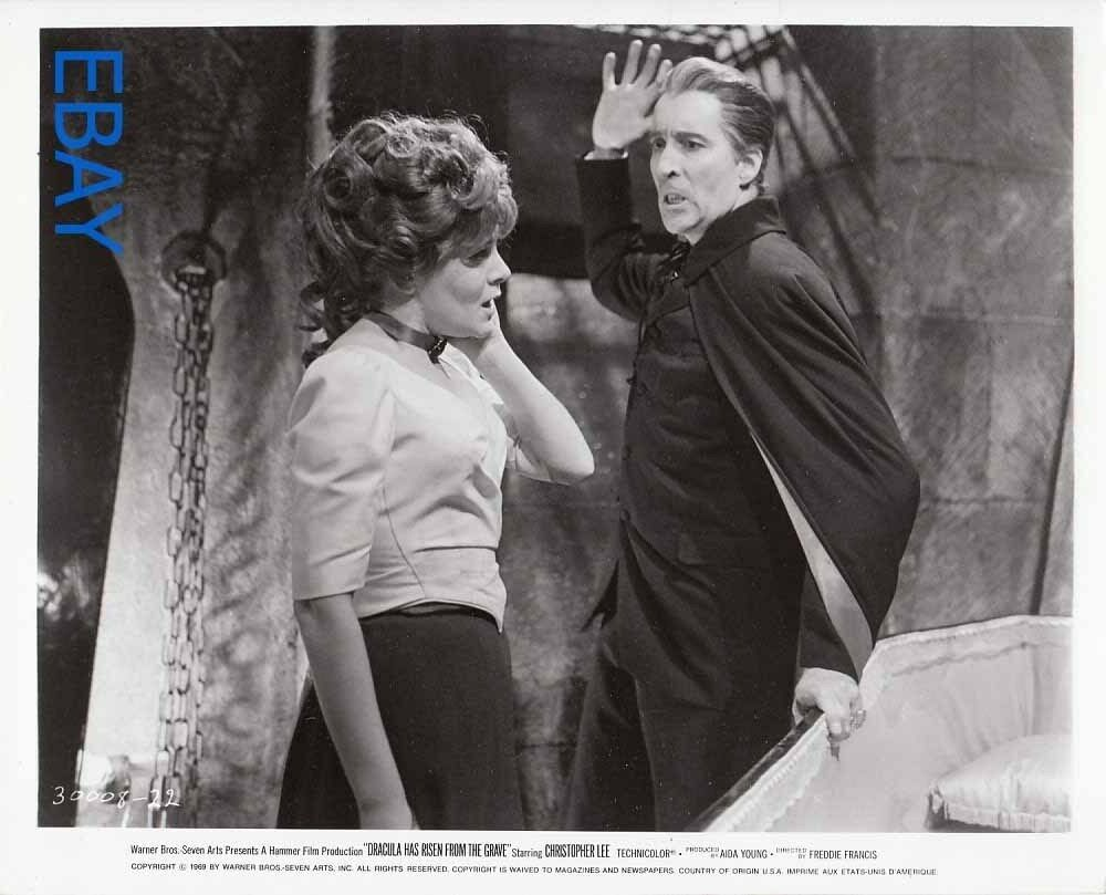 Christopher Lee attacks woman Dracula Has Risen from the ...