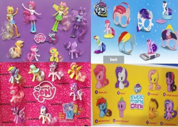 MCDONALD'S 2018, 2017, 2016 & 2015 MY LITTLE PONY SETS - PICK YOURS - FREE SHIP