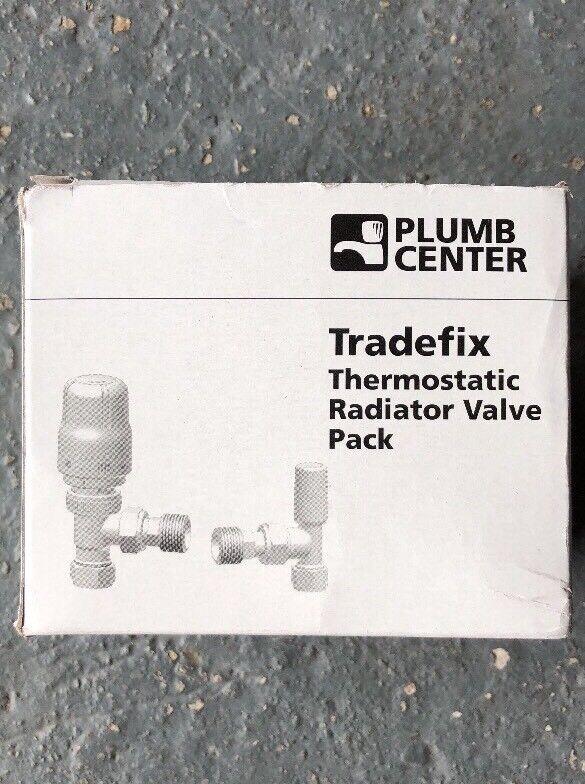 Plumb Center Tradefix Thermostatic Radiator Valve Pack 15mm
