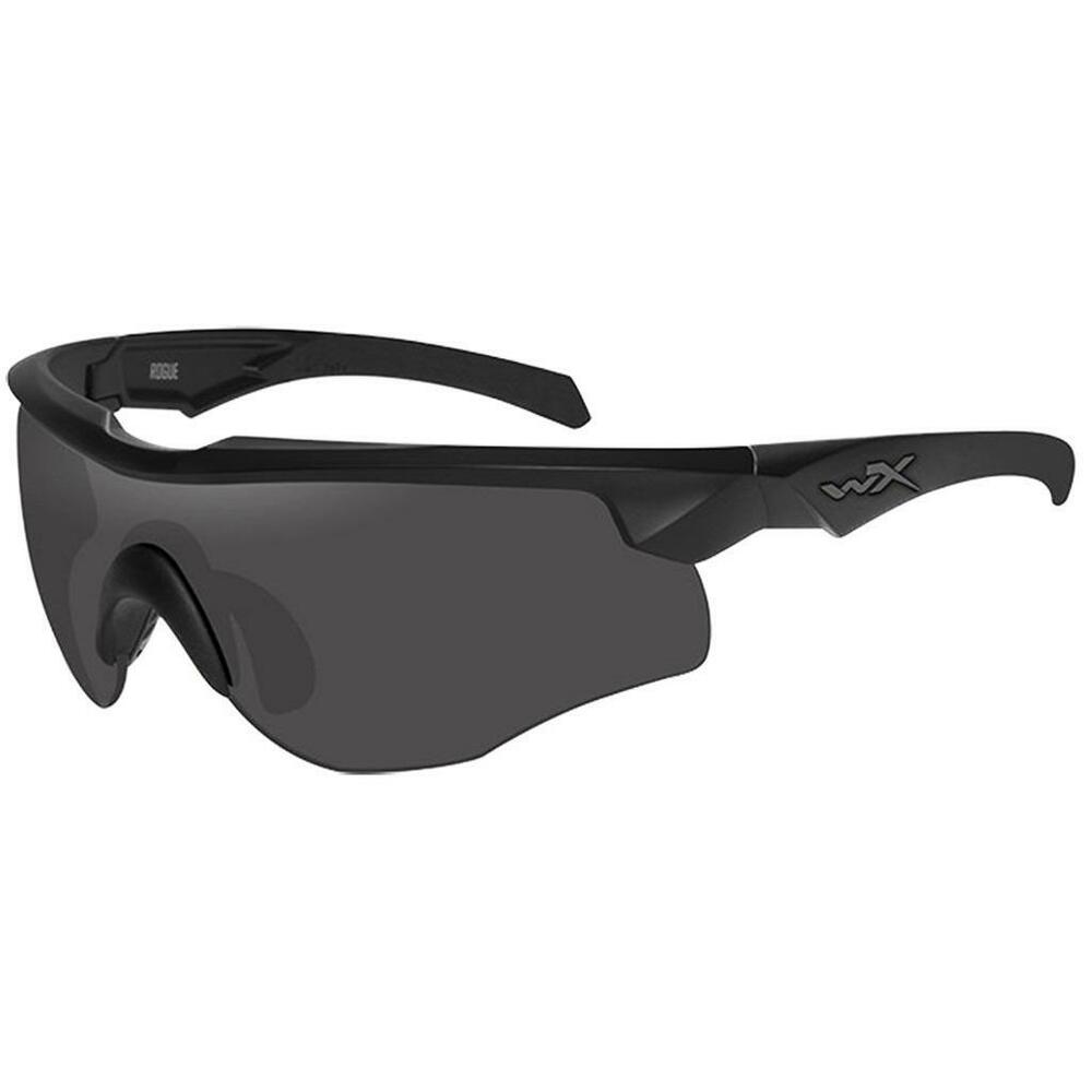 394a5a72376 Details about Wiley X WX Rogue Comm Sunglasses Matte Black Frame Grey Clear  Rust Lenses 2852