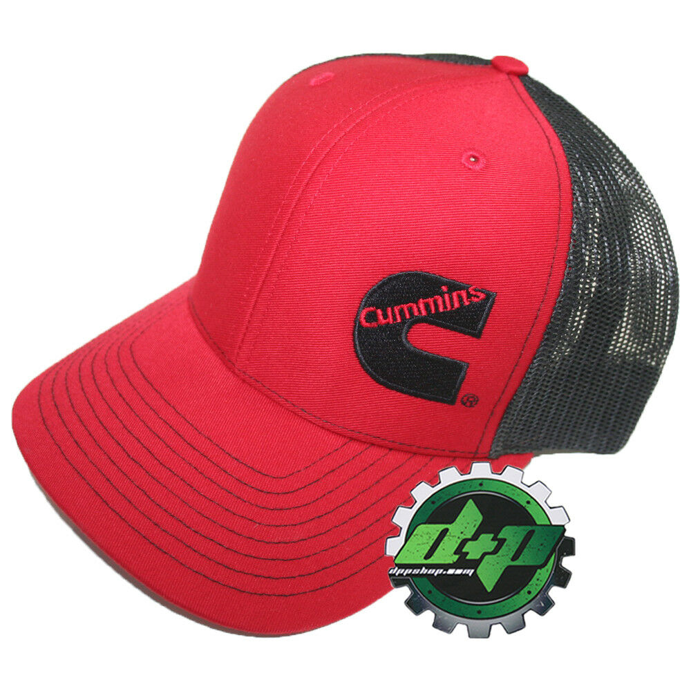 Details about Dodge Cummins trucker hat ball mesh richardson red w  black  snap back cummings 7c7e61d99f01