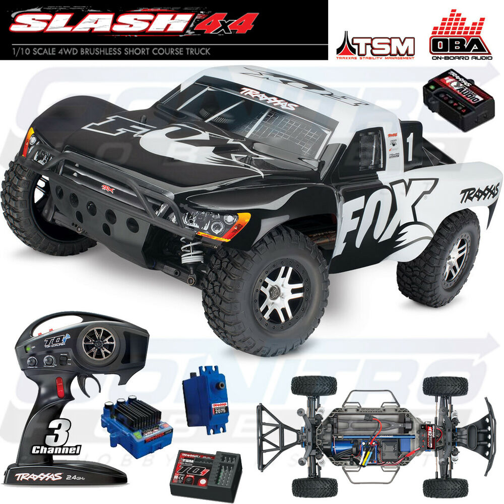 Traxxas 1/10 Slash 4x4 4WD TSM On Board Audio Brushless Short Course ...