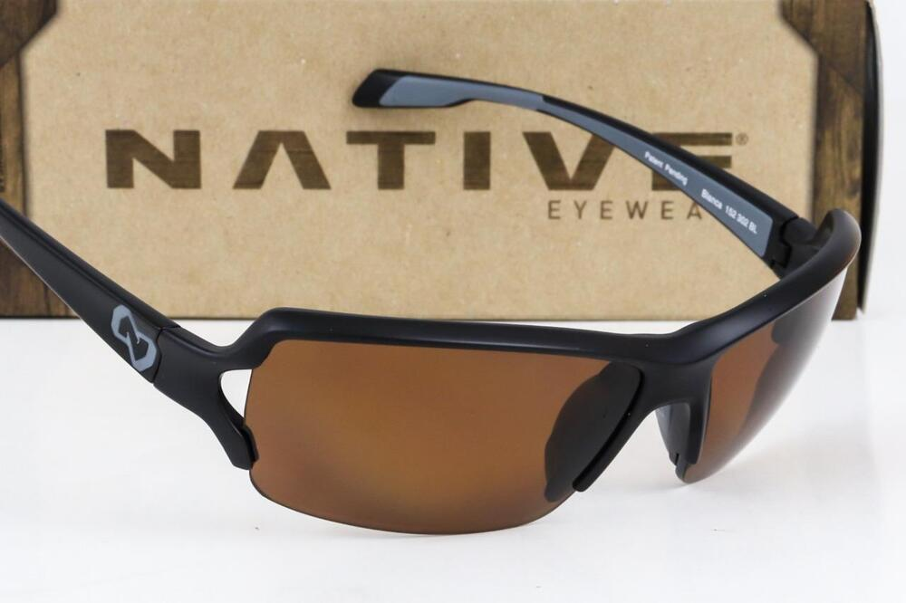 c3207111466 Details about NEW NATIVE EYEWEAR BLANCA SUNGLASSES Black frame   Brown N3  Polarized lens