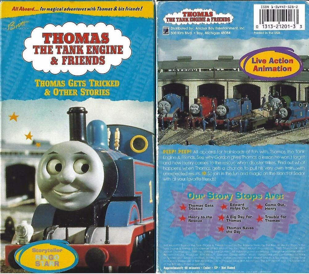 Rare Vintage Thomas Train Tank Engine Ringo Starr Gets Tricked VHS Video