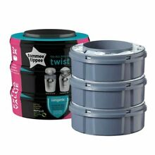 Tommee 3 Pack Kills Sangenic Tec Refill Compatible Cassette for Baby Nappies