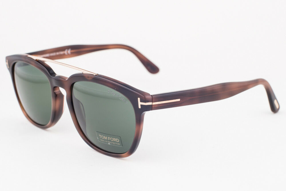 1356b5666a43b Details about Tom Ford Holt Blonde Havana Gold   Green Sunglasses TF516 53N
