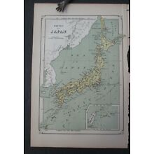 1874 EMPIRE OF JAPAN MAP