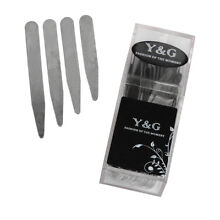 CS3019 Silver Stainless Steel Collar Stays for Working Day Gift - 24 PCS By Y&G