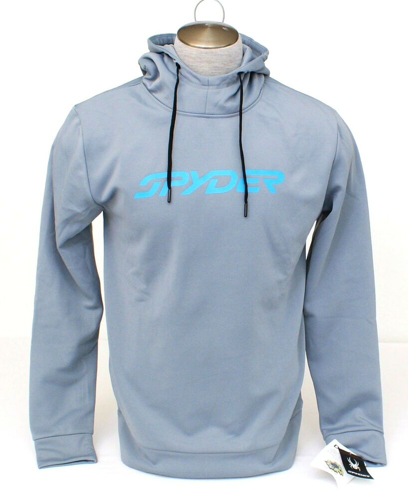 Details about Spyder Dry Web Signature Steel Gray Hooded Sweatshirt Hoodie  Men s NWT 87c914f0e