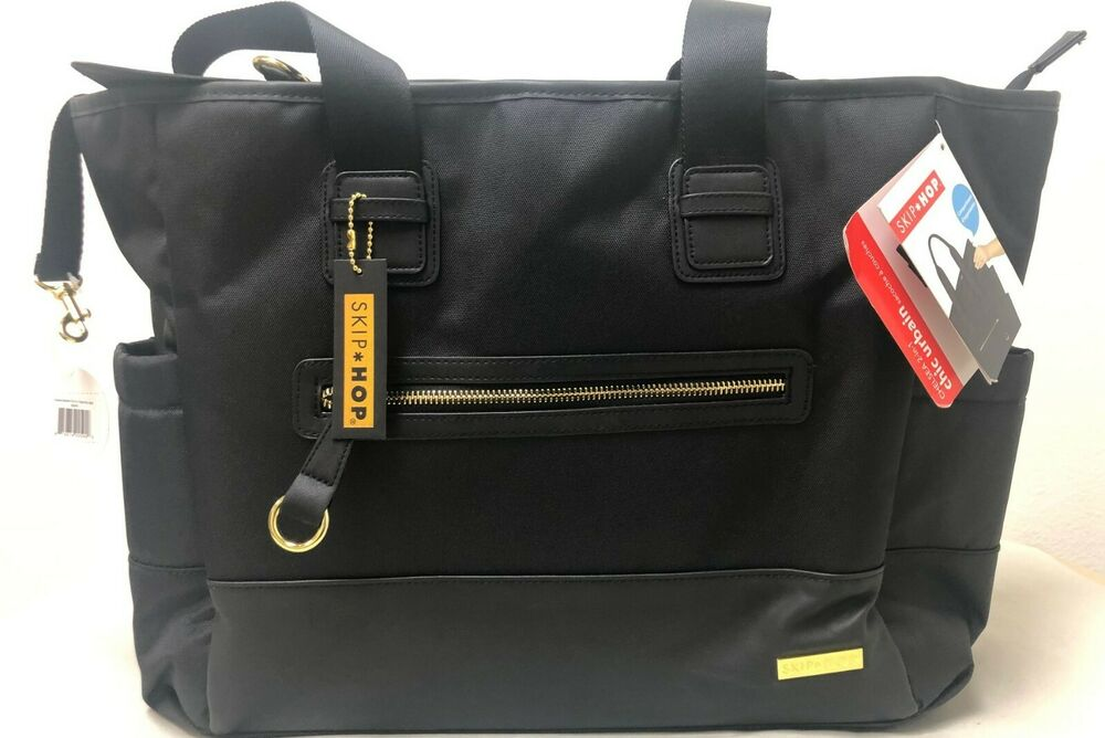 Details About Skip Hop Chelsea Downtown Chic Baby Diaper Backpack W Changing Pad Black New