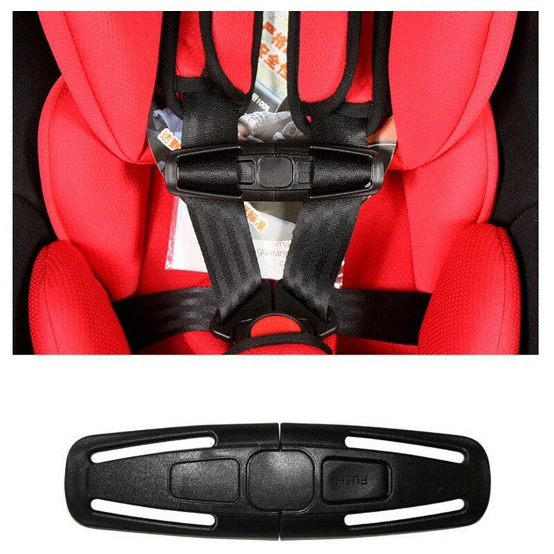 New Black Baby Safety Car Seat Strap Belt Toddler Chest Harness Clip