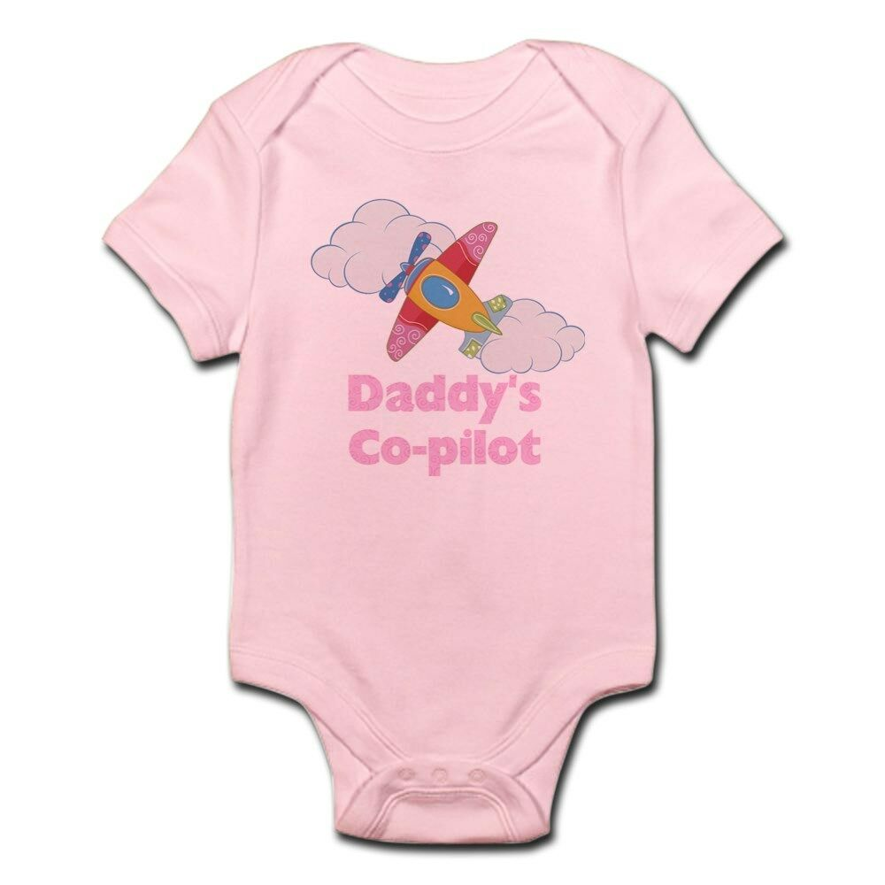 e9aaa0fdd Details about CafePress Daddy's Co Pilot Girl's Infant Bodysuit Baby  Bodysuit (441680374)