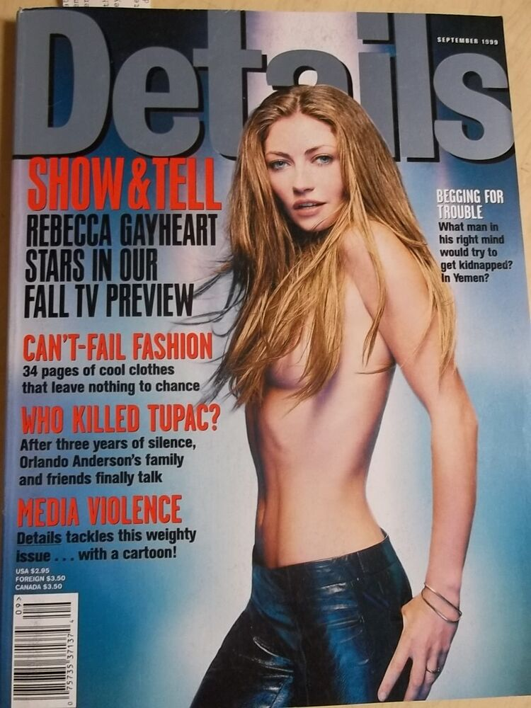 Details about september 1999 Details Rebecca Gayheart toples cover Estella  Warren sexy AD
