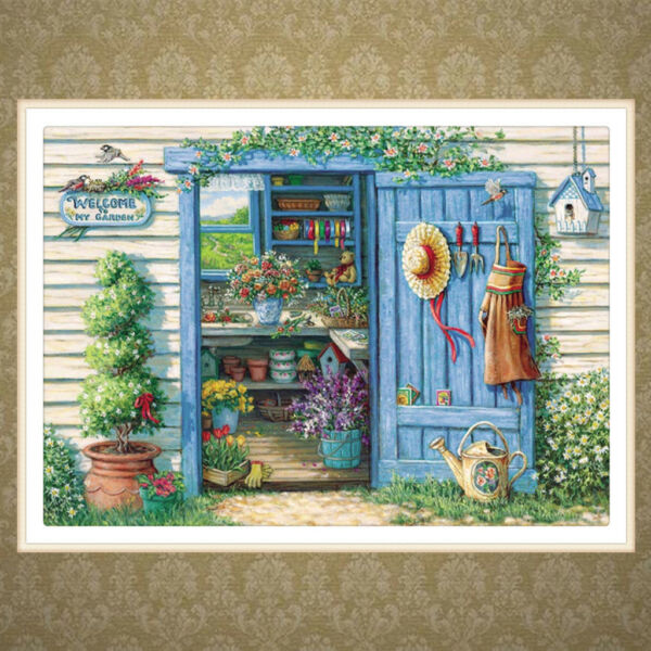 Flower House DIY 5D Full Diamond Embroidery Painting Cross Stitch Home Decor