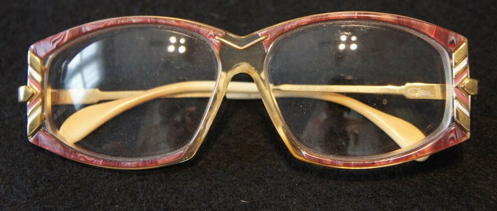 222ba3cf57b Details about Cazal Model 194 Color(600) Size 57   Maroon Eyeglass Frame w  Gold Accents   Lens