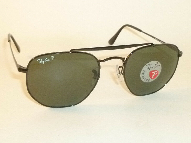 b7ff9d13da2 Details about New RAY BAN Marshal Sunglasses Black Frame RB 3648 002 58  Polarized Green 54mm