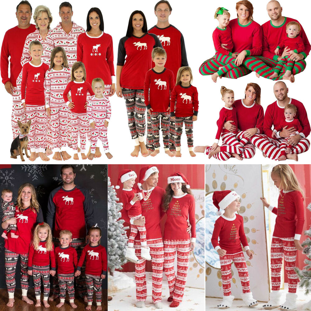 ef70029cb9 Details about 5 Styles Family Matching Christmas Pajamas PJs Sets Xmas  Sleepwear Nightwear AU