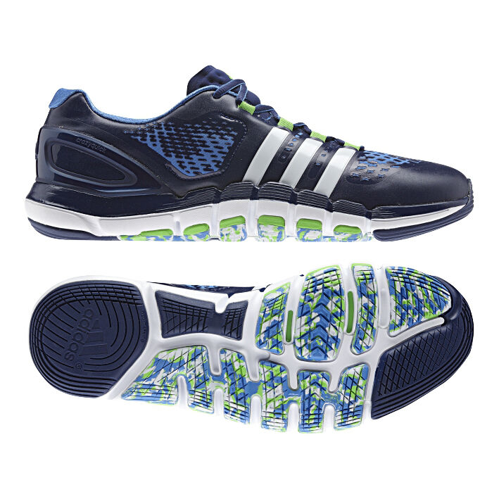 promo code ac4df 87ff0 Adidas Adipure Crazyquick Navy Blue Mens Trainers Training Running Gym Shoes