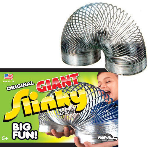 New In Box The Original Poof Giant Metal Slinky Walking