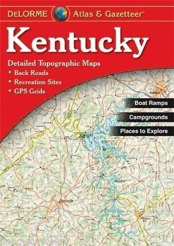 NEW Delorme Kentucky KY Atlas and Gazetteer Topo Road Map ... on