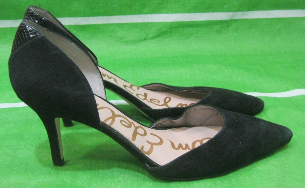 834643d9b Details about Sam Edelman Telsa D Orsay Pump ladies shoes suede Size 9