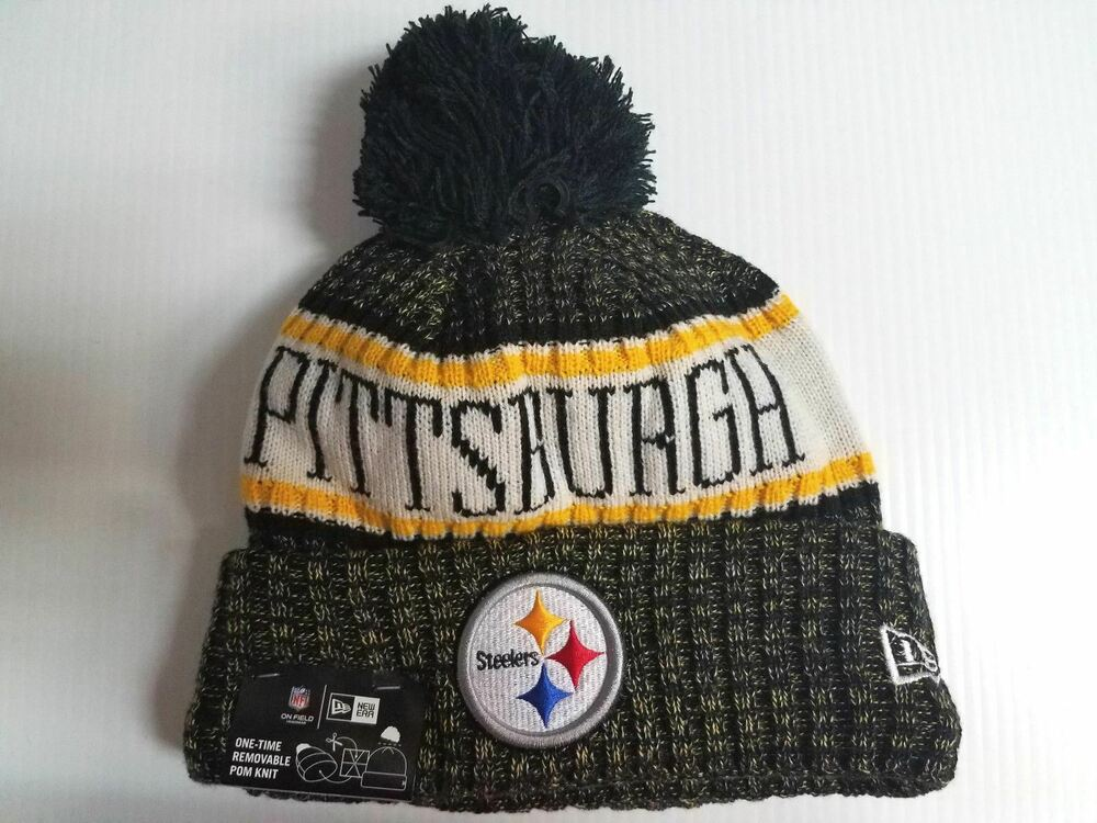 Details about Pittsburgh Steelers New Era Knit Hat On Field 2018 Sideline  Beanie Stocking Cap e01007f45d6b