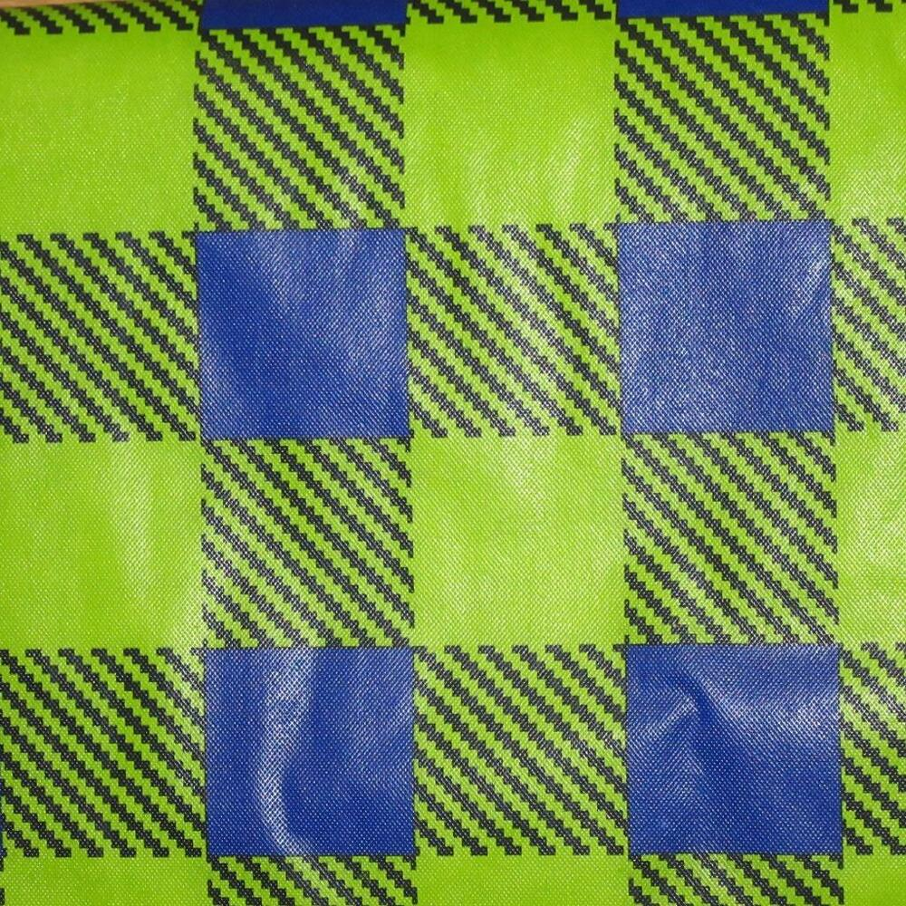 All Sizes Vinyl Flannel Back Tablecloth Green Blue Plaid
