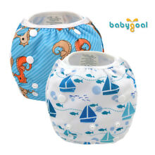 2 BABYGOAL Reusable Swimming Diaper Breathable Adjustable With Snaps Pool Cover