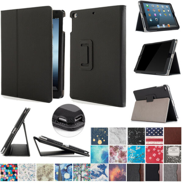 For Newest iPad 6th Generation 9.7 inch 2018 A1893 A1954 Folio Case Cover Stand