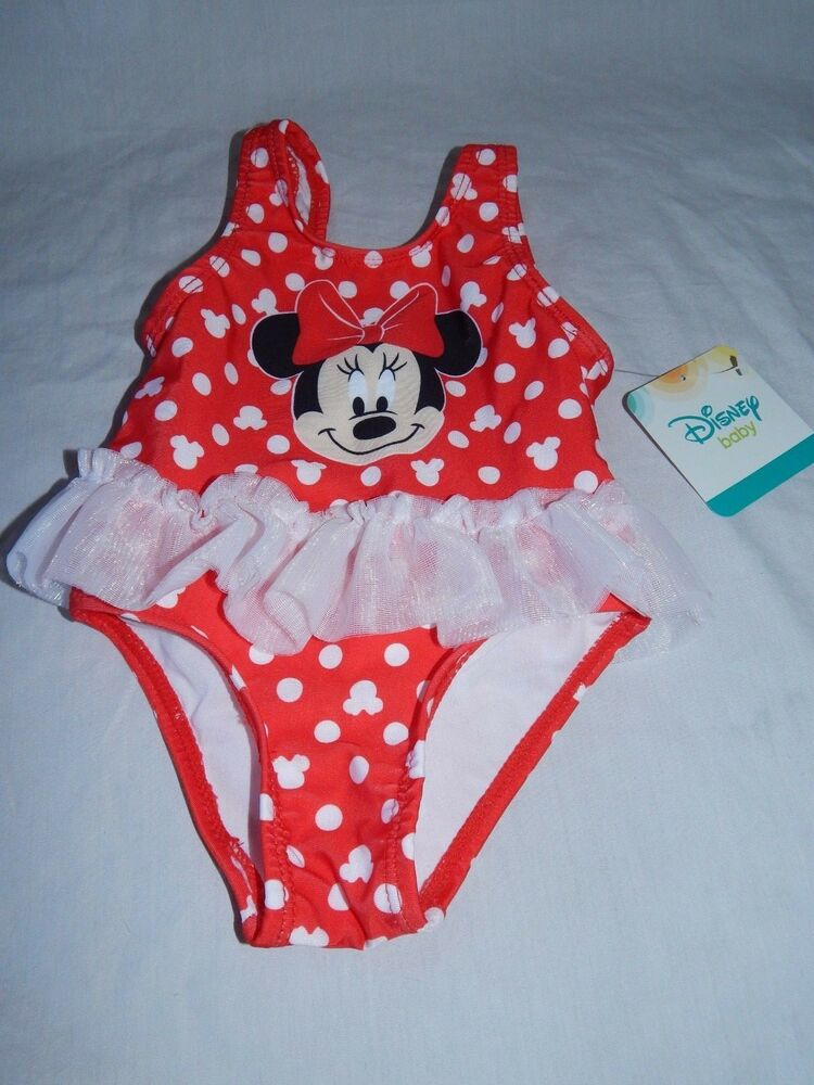 e171f4faf1 NEW Minnie Mouse Figure One Piece Swimsuit Tutu Disney Baby Girls 3/6 9 12  Month | eBay