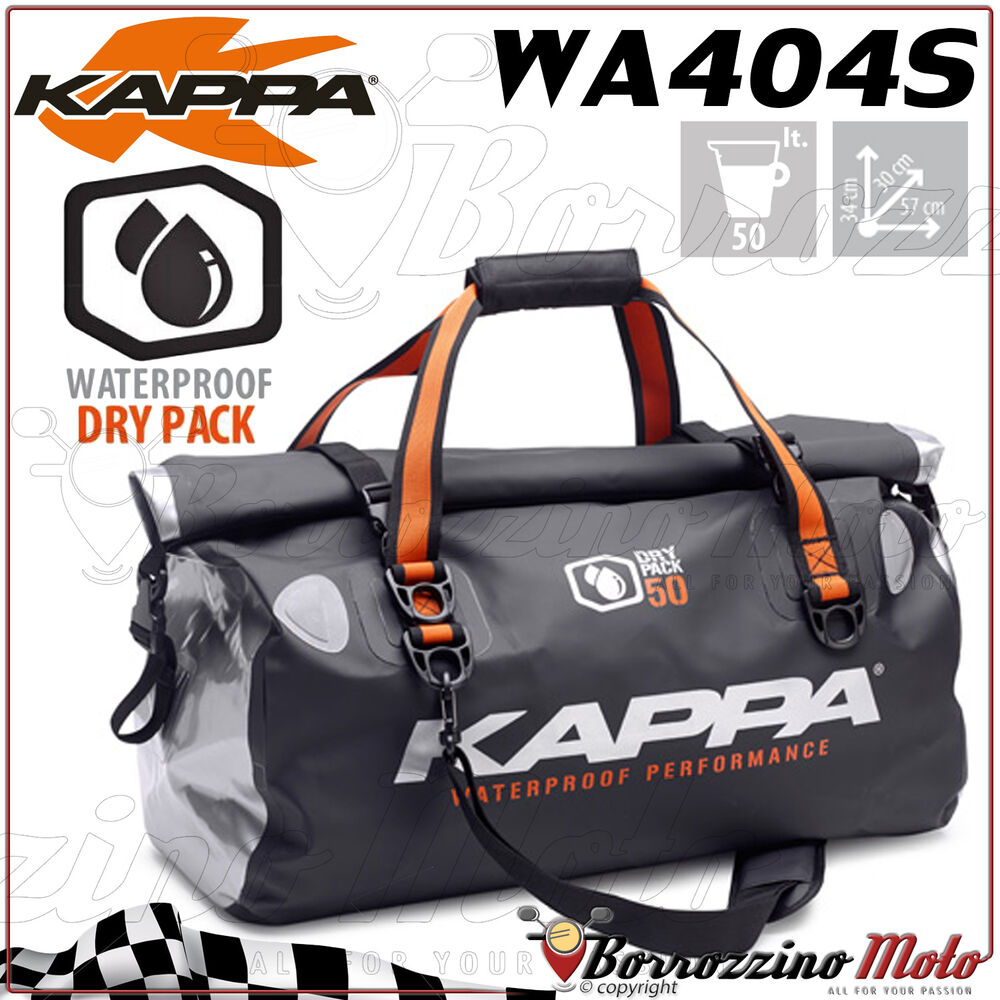 767d8f48f2b Details about BAG FROM THE SADDLE 50 LT KAPPA WA404S 100% WATERPROOF DRY  PACK UNIVERSAL