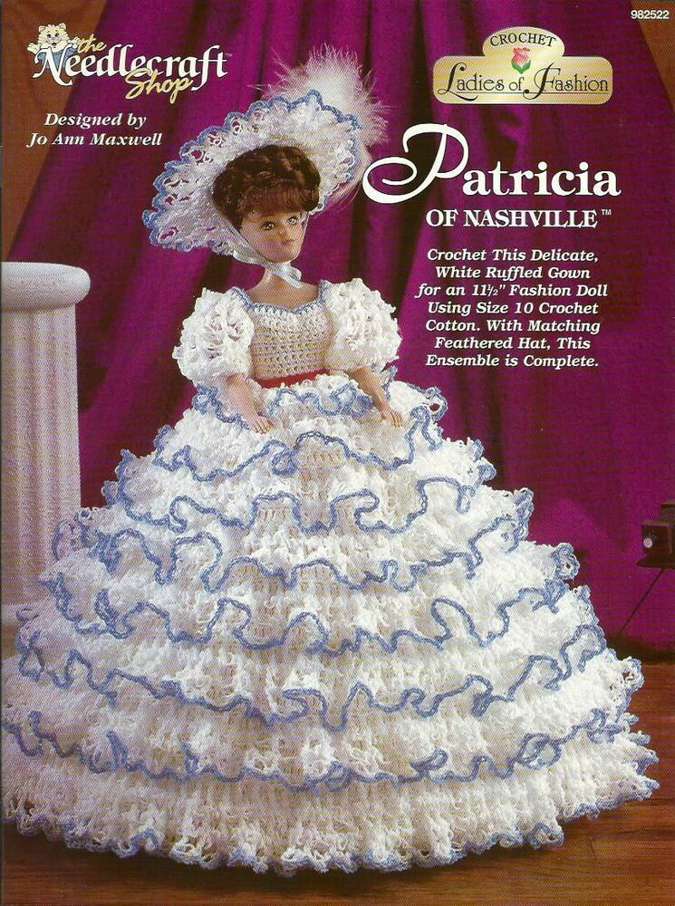 Patricia Of Nashville Ladies Of Fashion Crochet Pattern For Barbie