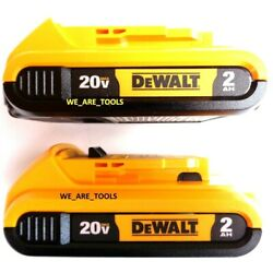 Kyпить (2) New GENUINE Dewalt 20V DCB203 2.0 AH MAX Batteries 20 Volt For Drill, Saw на еВаy.соm
