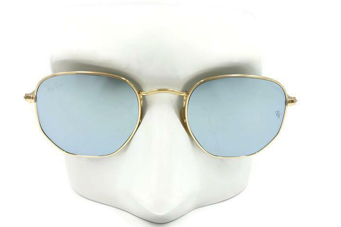 3cbee30bec11 Details about New Ray Ban Round Hexagonal FLAT Silver Flash Sunglasses  RB3548N 001 30 48  178