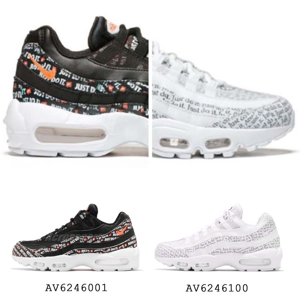 the latest 17aea a41cc Details about Nike Air Max 95 SE Just Do It Pack Black   White Mens Limited  Sneakers Pick 1