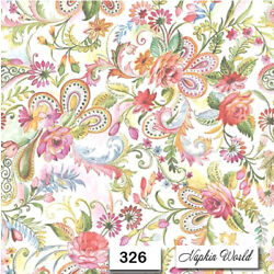 Kyпить (326) TWO Individual Paper Luncheon Decoupage Napkins - PAISLEY, GYPSY, FLORAL на еВаy.соm