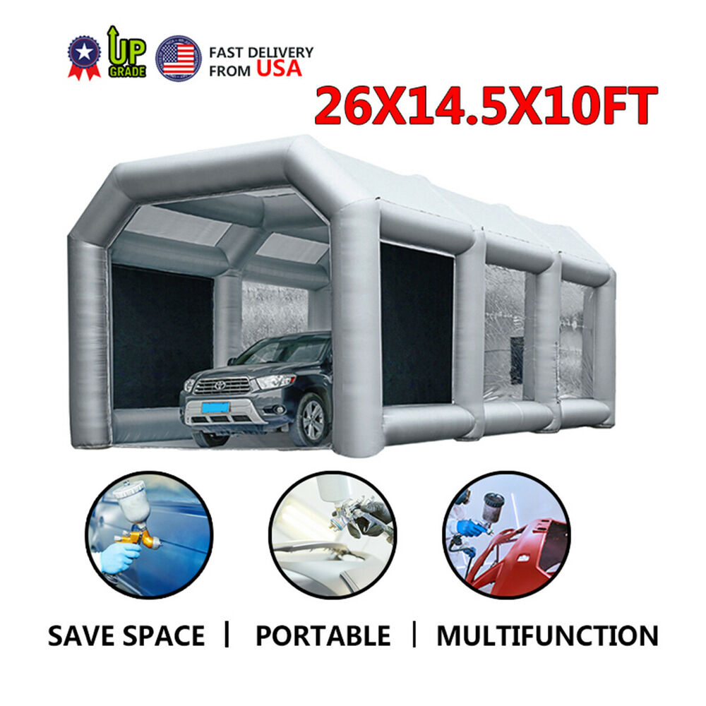 26lx13wx10h Mobile Inflatable Paint Spray Booth Tent