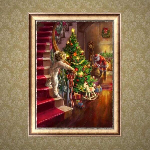 DIY 5D Full Diamond Painting Xmas Tree Embroidery Cross Stitch Kit Home Decor